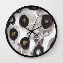 """Flowing Circles"" - Karla Leigh Wood Wall Clock"