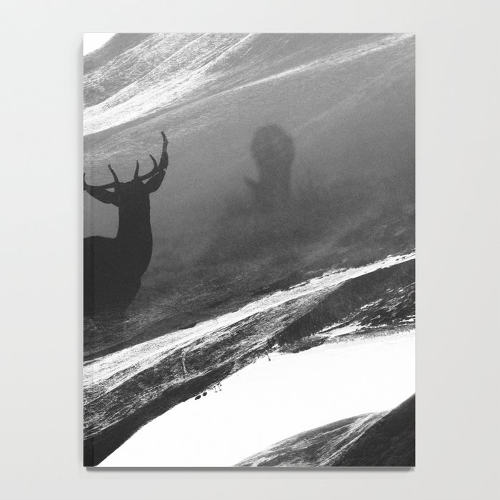 Oh Deer Black Notebook