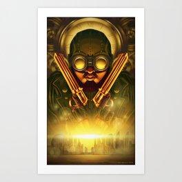 Steampunk Seth: Bounty Hunter Art Print
