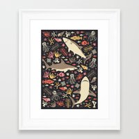 marina and the diamonds Framed Art Prints featuring Oceanica by Anna Deegan