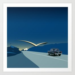 """Soviet Modernism: """"Seagull"""" road mark at the northern entry of Yerevan Art Print"""