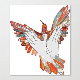 Shadow Puppet: Bird, Hands Canvas Print