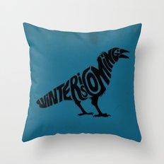 The three-eyed crow Throw Pillow