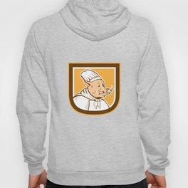 Boar Chef Cook Shield Cartoon Hoody
