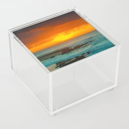 Sunset over childrens pool Acrylic Box