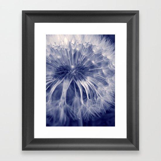blue dandelion I Framed Art Print