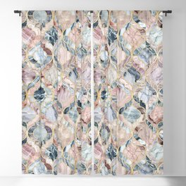 Marble Moroccan Tile Pattern Blackout Curtain