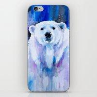 polar bear iPhone & iPod Skins featuring Polar bear  by Slaveika Aladjova