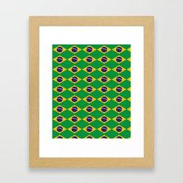 flag of brazil 2-Brazil, flag, flag of brazil, brazilian, bresil, bresilien, Brasil, Rio, Sao Paulo Framed Art Print