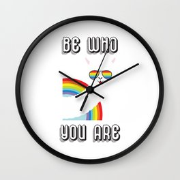 Be who you are lgbt rights awareness Wall Clock