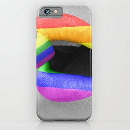 Rainbow Lipstick iPhone Case