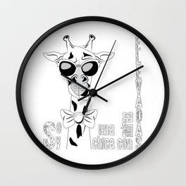Funny Giraffe V0 Wall Clock