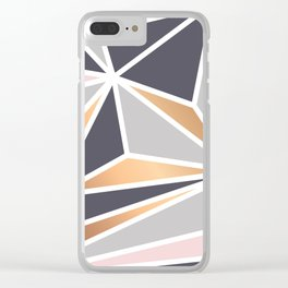 Geometry Gold 047 Clear iPhone Case
