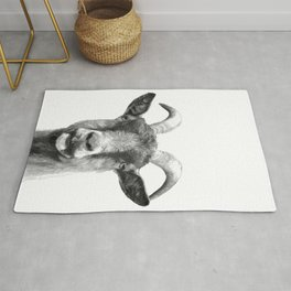 Black and White Goat Rug