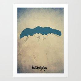 Kanchenjunga - The Lone King Art Print