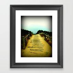 Beach Path Framed Art Print