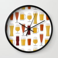 beer Wall Clocks featuring Beer  by Cute to Boot