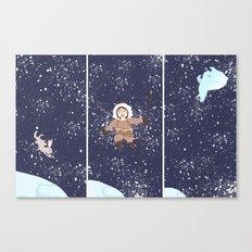Hare, Bear & Manu  Canvas Print