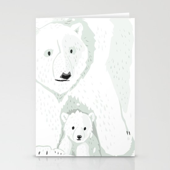 The White Bears and the Tin Soldier Stationery Cards