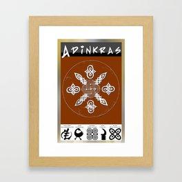 Adinkra Symbol Clock Framed Art Print