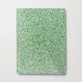 Spacey Melange - White and Dark Green Metal Print