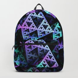 Lilac Ice 3D Sierpinski Triangle Fractal Art Backpack