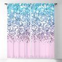 Sparkly Unicorn Blue Lilac & Pink Ombre by nlmiller07art