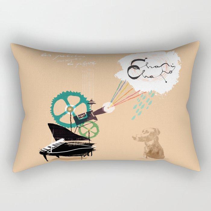 Chapi Chapo - Les Petites Musiques de Pluie  Rectangular Pillow