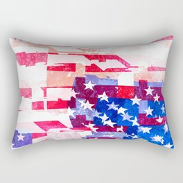 Messed Up American Flag Rectangular Pillow