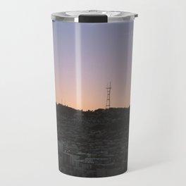 blurred sunset  Travel Mug
