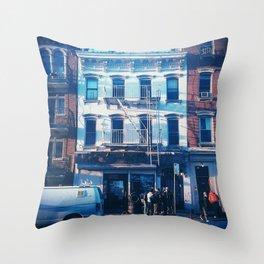 Bushwick Car Shop Throw Pillow