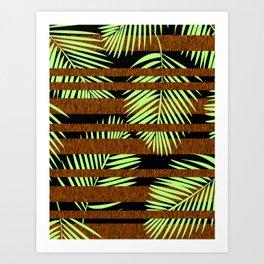 Tropical Stripe Art Print