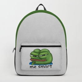 PepeTheFrog  Smug face Apu Apustaja Me Smart Kekistan Wall eyed Rare Pepe the Frog Backpack