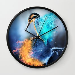 Kingfisher Ice and Fire by GEN Z Wall Clock