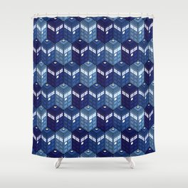Infinite Phone Boxes Shower Curtain