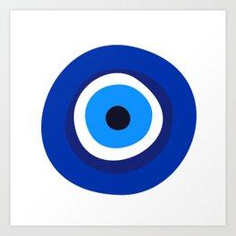 evil eye symbol Art Print
