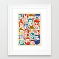 faces Framed Art Prints featuring Faces by Lawerta