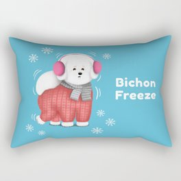 Bichon Freeze Rectangular Pillow