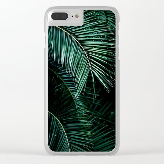 Palm Leaves 9 Clear iPhone Case
