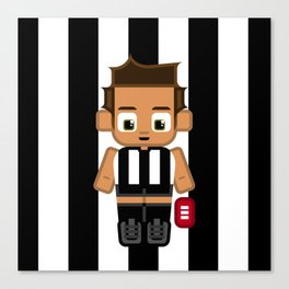 Super cute sports stars - Black and White Aussie Footy Canvas Print