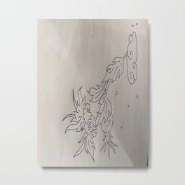 VLeesetende bloem Metal Print