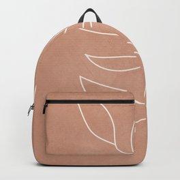 Engraved Leaf Line Backpack