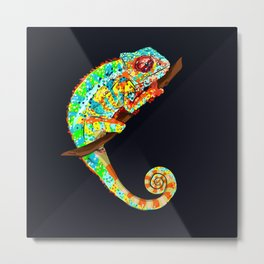Color Changing Chameleon Metal Print