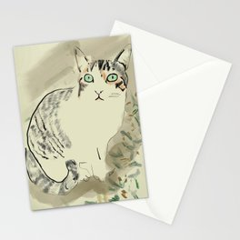 A cute kitten named Kiwi Stationery Cards