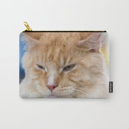 Red-white tabby Maine Coon cat Carry-All Pouch