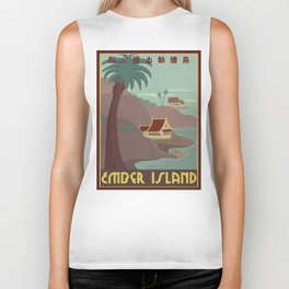 Ember Island Travel Poster Biker Tank