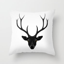 The Black Deer Throw Pillow