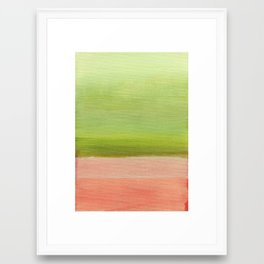 Pink and Green Framed Art Print