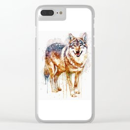 Alpha Wolf Clear iPhone Case