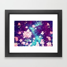 Space Flowers Framed Art Print